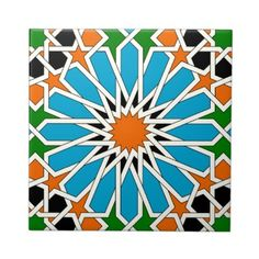 Shop Islamic geometric pattern tile created by moresque. Islamic Art Pattern, Arabic Pattern, Geometric Pattern Design, Geometric Art, Tile Patterns, Pattern Art, Arabesque, Motifs Islamiques, Pakistan Art