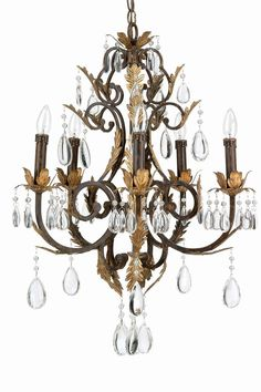 Five Light Up Lighting Chandelier