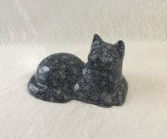 Vintage Calico Cat Chalkware Doorstop Large Decoupage Figurine by MomsantiquesNthings on Etsy