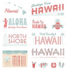 Hawaii Typography Graphics