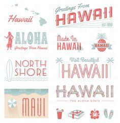 Hawaii Typography Graphics