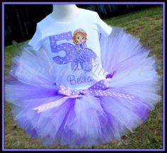 Sophia the First Personalized Birthday Number by SewCuteJust4U