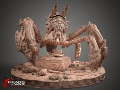 Gears of War - Shibboleth clay model, posed., Kamil Kozlowski on ArtStation at http://www.artstation.com/artwork/gears-of-war-shibboleth-clay-model-posed