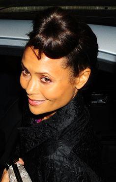 Thandie Newtons big bun hairstyle