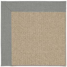 Capel Inspirit Champagne Machine Tufted Steel/Brown Area Rug Rug Size: Square 6'