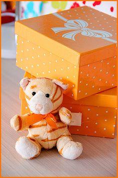 W pomarańczowych pudełeczkach znalazły się magiczne, podręczne skarby :)