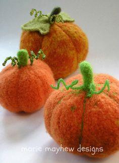 PATTERN Harvest Pumpkin Knitting & Felting by woollysomething