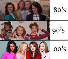 Mean Girls. They never go away. However for the 90s I think that the girls from Jawbreaker would have been a better choice.