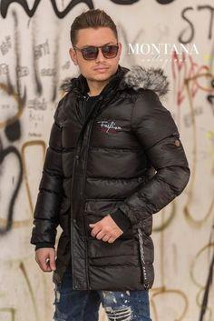Geaca long Barbati Winter Jackets, Fashion, Winter Coats, Moda, Winter Vest Outfits, Fashion Styles, Fashion Illustrations