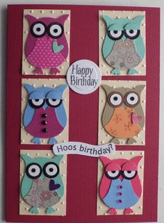 love the stampin' up owl punch