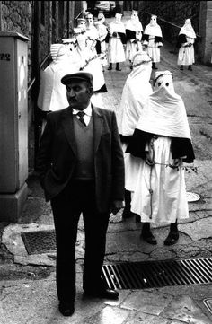 Josef Koudelka :: Easter religious celebrations near Collesano, Sicily, 1993 more [+] J. Koudelka