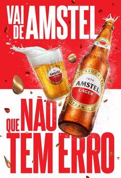 Amstel on Behance Food Menu Design, Food Poster Design, Graphic Design Posters, Menu Bar, Ab Inbev, Banner Design Inspiration, Beer Poster, Cosmetic Design, Ads Creative