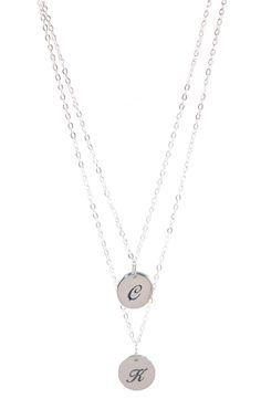 Sterling Initial Chain Necklace | jewelboxonline.com