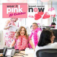 Get your office in the pink this October – be beautiful, be bonkers, be brilliant - and help raise money to fund cutting-edge ‪#‎breastcancer‬ research. Sign up to #wearitpink today!