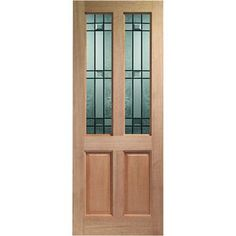 The Malton mahogany door is engineered and faced with real meranti wood veneer and is glazed with double glazed drydon style safety glass.  This door is supplied in its natural state ready for your choice of finish.  These Malton mahogny doors are an ideal look for both back doors or front entrance doors.  We deliver this door free to anywhere within the mainland UK!  XLB DRY-44DG