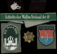 Insignia worn by Turkistan Legion and later the 'Ostturkischer Waffen-Verband… Turkic Languages, Semitic Languages, Wolf Symbolism, Syrian Civil War, German Uniforms, Dutch Language, Catholic University, World War Ii, Rugs On Carpet