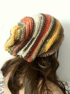 Crochet Slouch Beanie, Slouchy Beanie, Knitted Hats, Crochet Hats, Slouch Hats, Knitting Terms, Boho Hat, Hats For Men, Hat Men