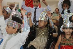 ISPO Pakistan 2014. Children dancing to the tune of Twinkle Twinkle Little Star on World CP Day.
