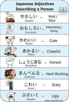 Adjectives, Like words . Explained with humor :) Thank you Daizo. - Adjectives, Like words … Explained with humor :] Thank you Daizo. Basic Japanese Words, Japanese Phrases, Study Japanese, Japanese Culture, Learning Japanese, Learning Italian, Japanese Language Lessons, Japanese Language Proficiency Test, Korean Language