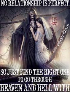 Going though he'll till you get home waiting to live in heaven xxx Dark Love Quotes, Romantic Love Quotes, Strong Quotes, Positive Quotes, Gangster Quotes, Biker Quotes, Badass Quotes, Perfect Relationship, Relationship Quotes