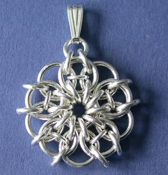Chainmaille Kit with Tutorial - Celtic Pendant in 16 gauge Non Tarnish Silver Plate