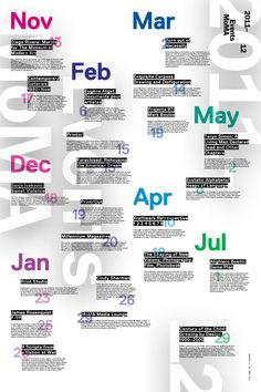 Events MoMA – Calender Poster Design by Andrew Lu