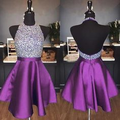 Purple Homecoming Dress Short Prom Dress, Dresses For Graduation Party, Evening Dress, Formal Dress, School Dance Dresses, Hoco Dresses, Dresses For Teens, Cute Dresses, Formal Dresses, Short Purple Prom Dresses, Dresses Online, Party Kleidung, Color Lila