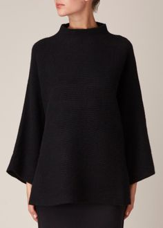 Totokaelo - The Row Black Agrena Top Poncho, Minimal Fashion, Alexander Mcqueen, What To Wear, Fashion Dresses, Cute Outfits, Chiffon, Style Inspiration, My Style