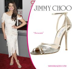 Lea Michele in Jimmy Choo to the 2012 People's Choice Awards