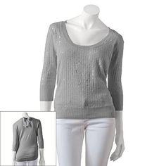 Candie's Sequin Sweater