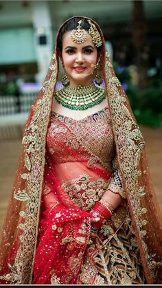 Indian Bridal Outfits, Bridal Dresses, Bridal Looks, Bridal Style, Indian Wedding Bride, Dream Shower, Sari Blouse Designs, Bride Portrait, Bridal Pictures