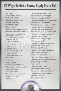Ways to Get a Funny Reply from Siri Humor Poster Posters at AllPosters… Stupid Funny Memes, Funny Relatable Memes, Funny Texts, Funny Humor, Hilarious, Silly Jokes, Funny Stuff, Things To Do At A Sleepover, Study Tips