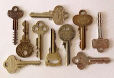 10 skeleton keys flat house keys cash register keys by KeyBoogie, $9.00