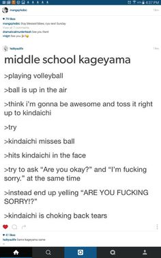 This is why Kageyama doesn't socialize out of volleyball