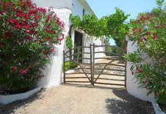 Villas, Gate, Spain, Sweet Home, Outdoor Structures, Island, House, Gardens, Aging Wood