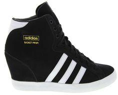 The ultimate sport wedge. Adidas Basket Profi Up Wedge sneakers in Black