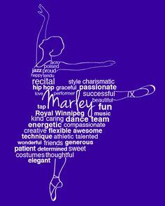 Ballerina templates design - add the name of your little ballerina, or make it a thank you gift for a special dance teacher! https://www.facebook.com/TheGiftOfWordsbyPam