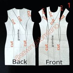 Image may contain: text Clothing Patterns, Dress Patterns, Sewing Patterns, Dart Manipulation, Learn To Sew, How To Make, Scroll Saw Patterns, Free Pattern, Pattern Ideas