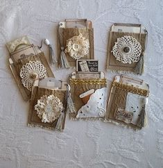 New Photo vintage Embellishments Thoughts Crocheting minor styles is definitely. New Photo vintage Embellishments Thoughts Crocheting minor styles is definitely… New Photo vint Fabric Journals, Journal Paper, Junk Journal, Journal Cards, Journal Vintage, Deco Table Noel, Candy Cards, Junk Art, Handmade Journals