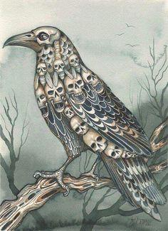 Raven of skulls