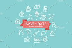 Wedding Concept. Vector by Stacy on @creativemarket