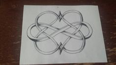 Two heart in infinity tattoo sketch