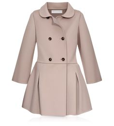 BABY DIOR - Pink and taupe double-sided cashmere dress