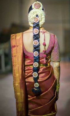 Thread Work Kanjivaram Blouse | Saree Blouse Patterns