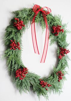 quick diy christmas wreath