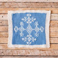 Ice Crystal Face Cloth FREE knitting pattern by Joyce Fassbender     Knit Picks