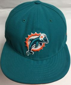Miami Dolphins New Era Fitted Cap Size 7 & 7/8 (62.5 cm) by CoryCranksOutHats on Etsy
