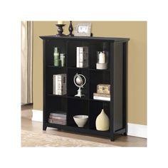 Simpli Home Acadian 9 Cube Bookcase, Black