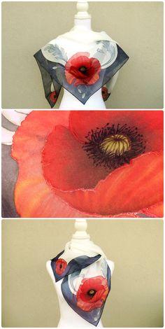 a49bb62d583a 42 fantastiche immagini su Fazzoletti e foulard in seta dipinti a ...