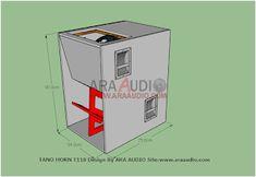 √ Skema Box TANO Horn T118 Bass Jauh | ARA AUDIO Speaker Plans, Speaker Box Design, Horns, Bass, Audio, Storage, Boxes, Pavilion, Purse Storage